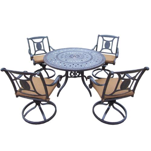 Oakland Living Corporation Willoughby by Oakland Living Sunbrella Aluminum 5-piece Dining Set