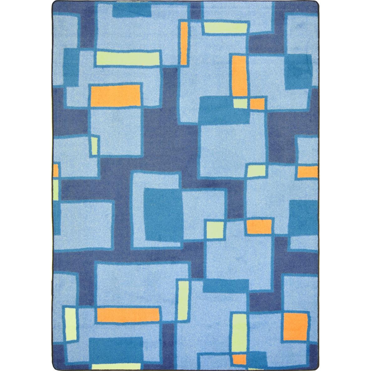 "Joy Rugs Outside the Box Machine Tufted - Cut Pile Cool Blue 3'10"" x 5'4"" - Area Rug"