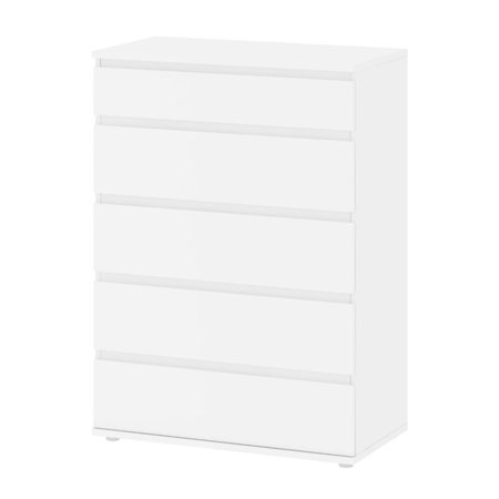36 Inch Wide 5 Drawer - Atlin Designs 5 Drawer Wide Chest in White