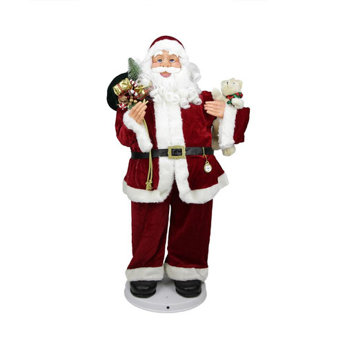 3' Deluxe Animated and Musical Decorative Dancing Santa C...