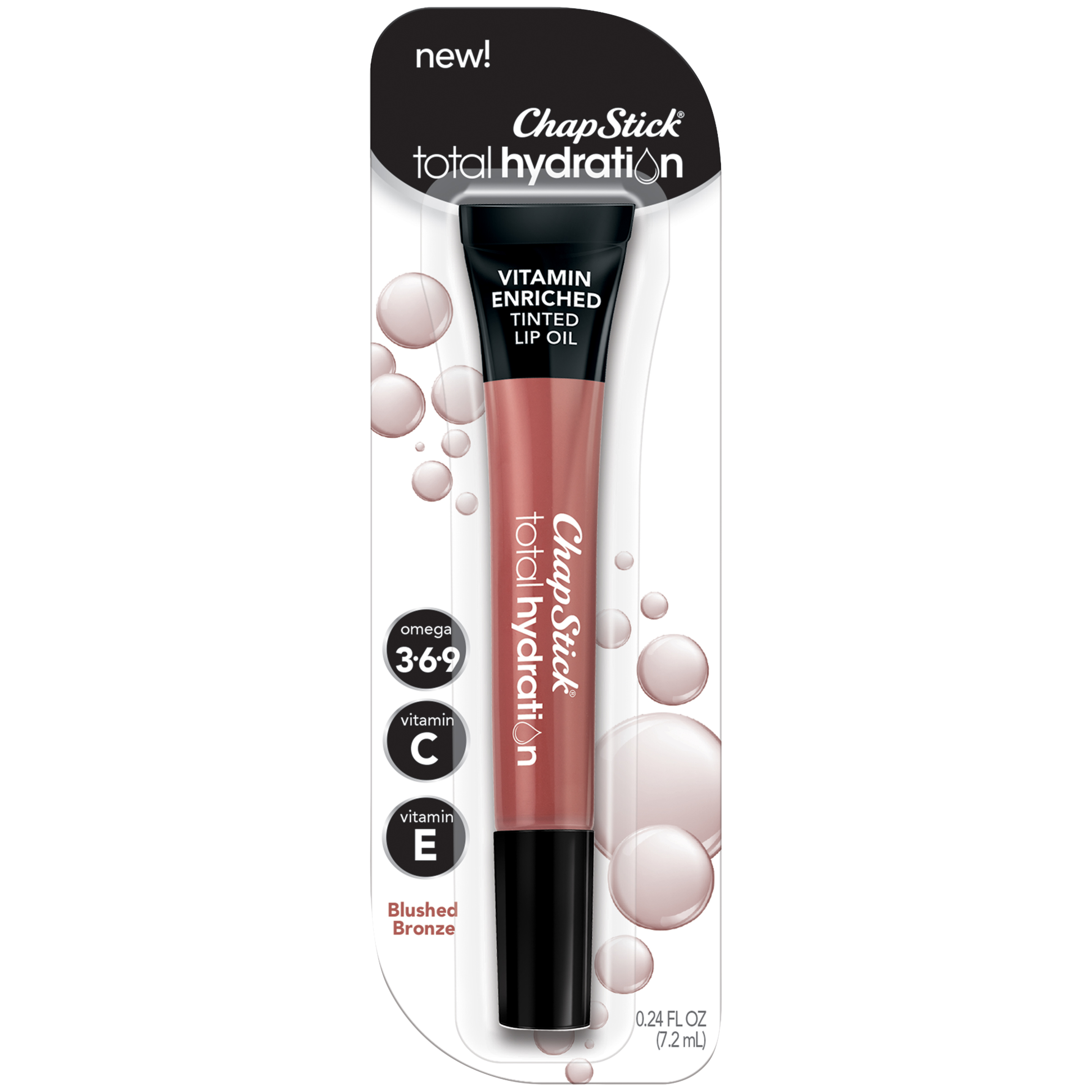 Chapstick Total Hydration Tinted Lip Oil - Blushed Bronze - 0.12oz