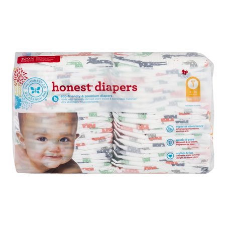 The Honest Co  Honest Diapers Multi Colored Giraffes Size 1   44 Ct