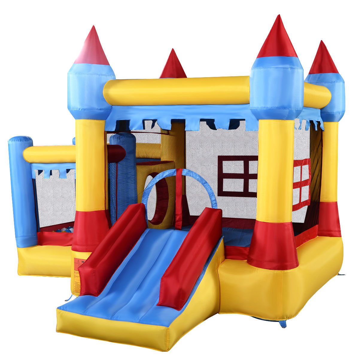 Zimtown Inflatable Bounce House Castle Commercial Kids Jumper Moonwalk Without Blower