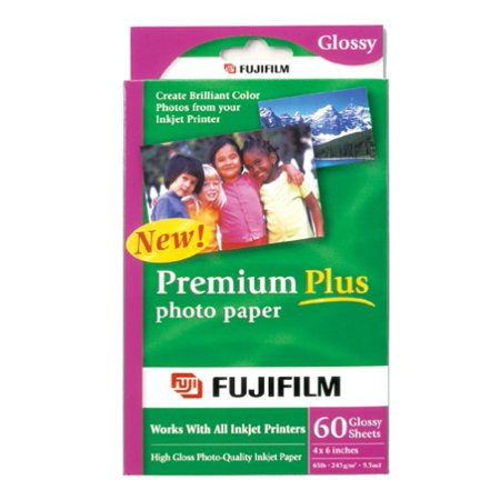 - FujiFilm Inkjet Premium Plus Paper Glossy 4 x 6 (60)