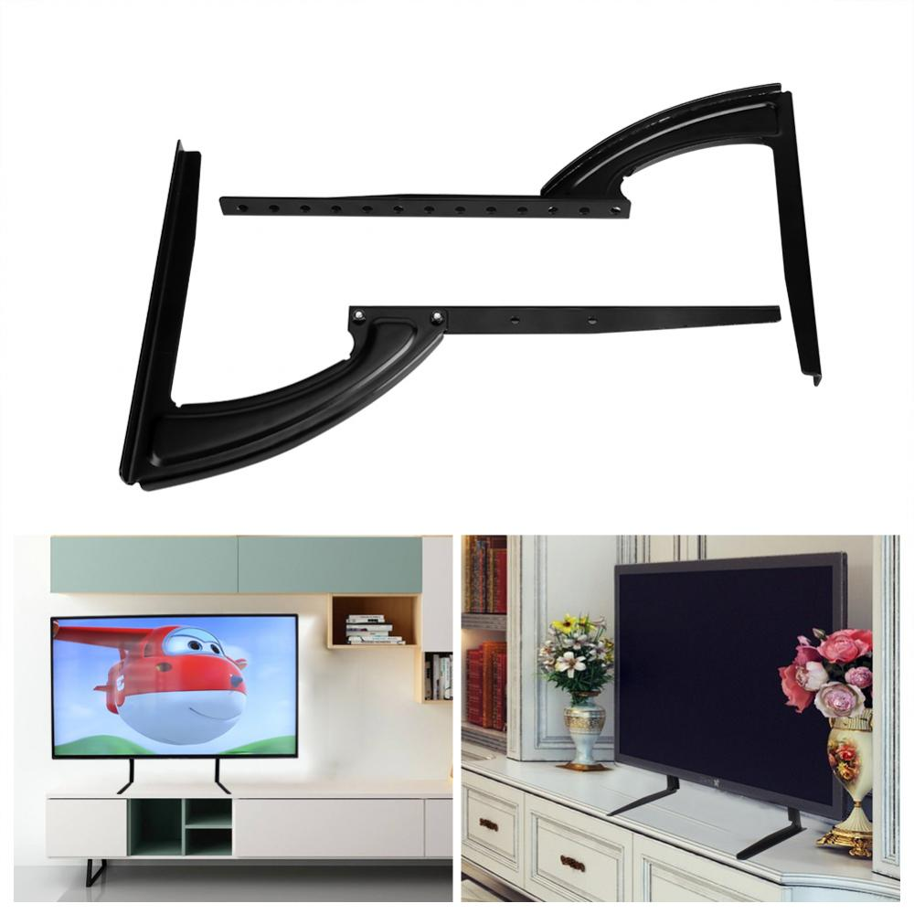 Dilwe 2637inch Flat Screen Tv Stand Adjustable Height Desktop Table