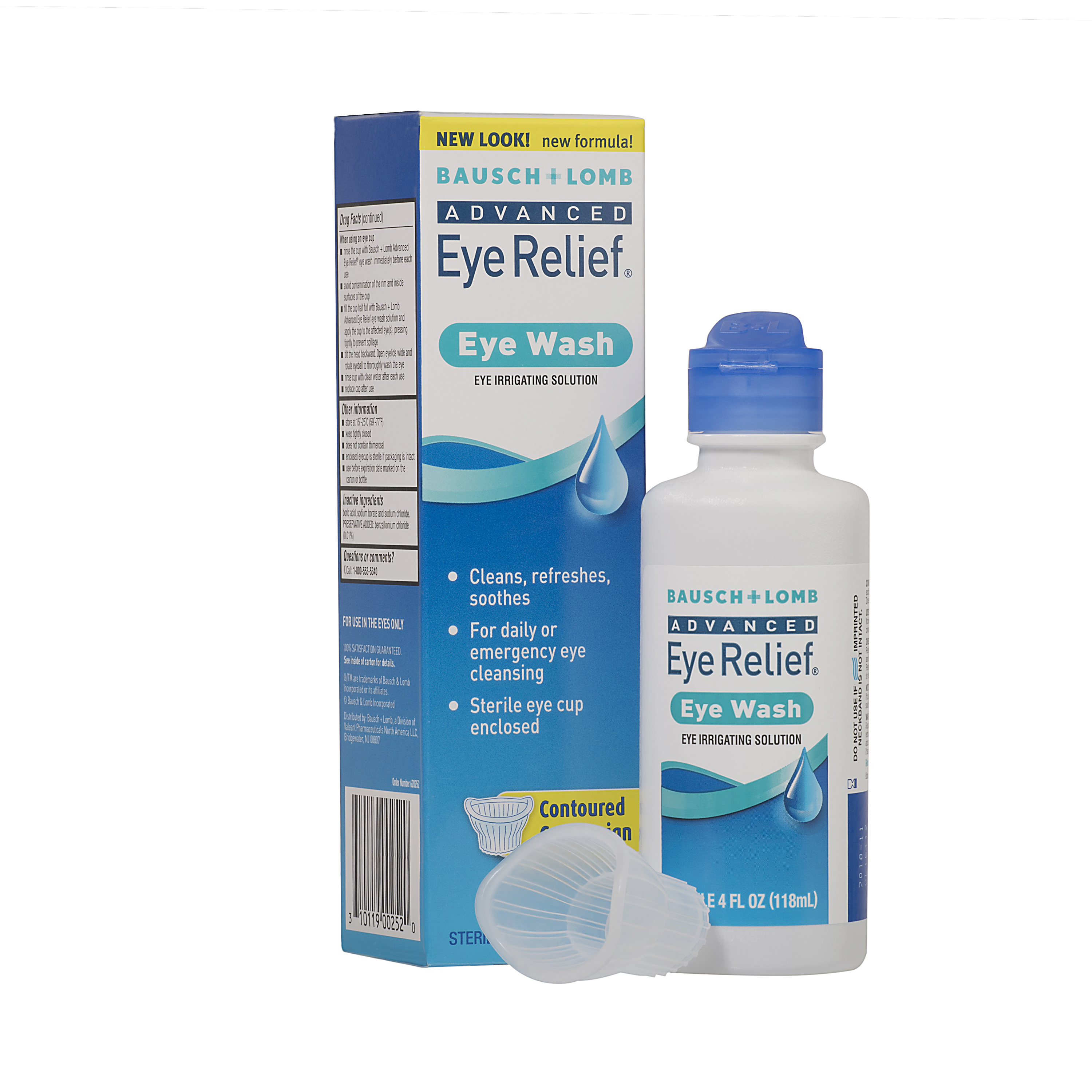 Bausch & Lomb Advanced Eye Relief Eye Irrigating Solution Eye Wash, 4 fl oz - Walmart.com | Tuggl