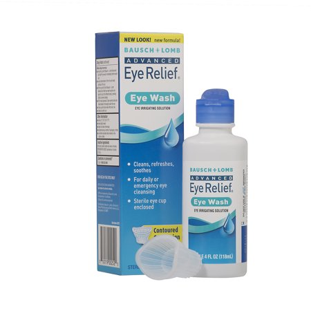 Eyesaline Single Eye Wash (Bausch & Lomb Advanced Eye Relief Eye Irrigating Solution Eye Wash, 4 fl)
