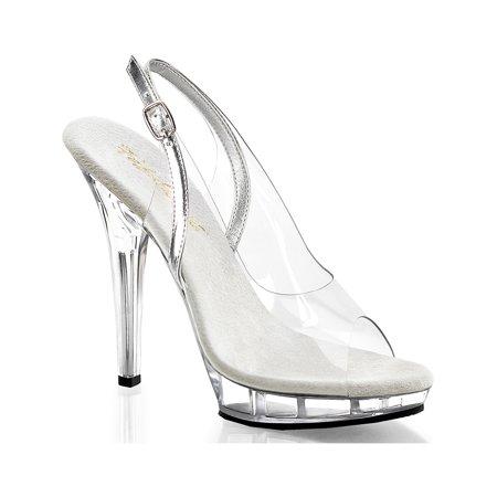 5 Inch Cute Casual Shoes Slightback Dress Shoes Mini Platform Clear