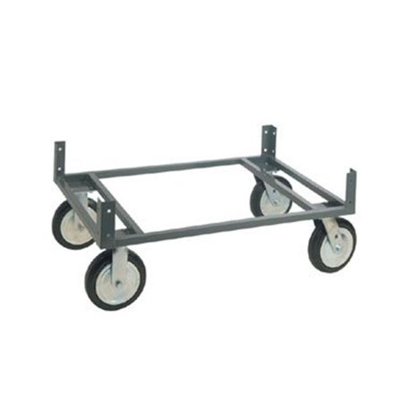 8' Base - Nexel Industries WDB3624N 36 x 24 in. Chrome Dolly Base with 8 x 2.5 in. Pneumatic Casters, Gray