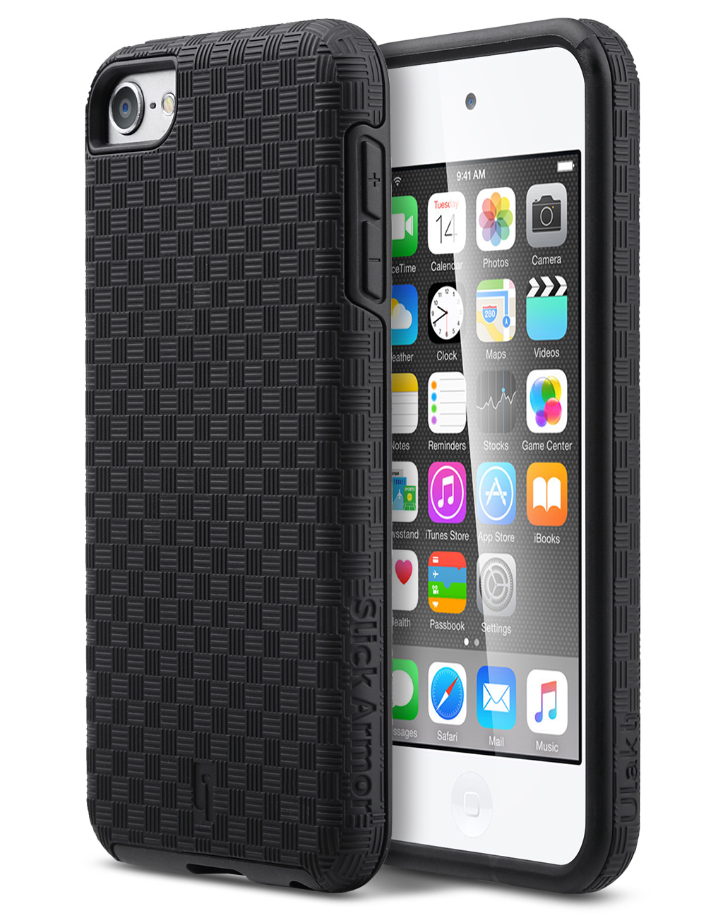 iPod Touch 6 Case,iPod Touch 5 Case,ULAK Slim-Protection SLICK ARMOR Hybrid Dual Layer ...