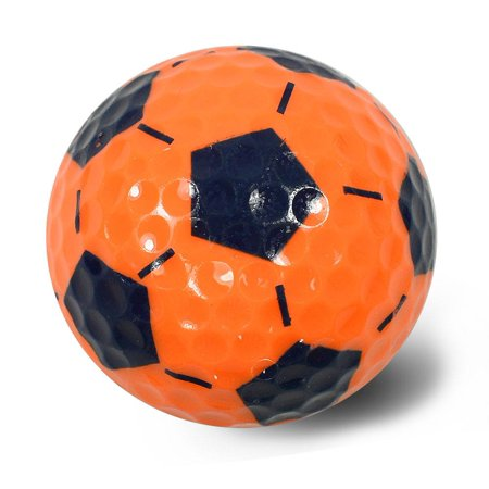 NITRO NOVELTY GOLF BALLS SOCCER NEON ORANGE/ROYALBLUE](Novelty Golf Balls)