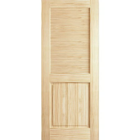 Kimberly Bay Louvered Solid Wood Unfinished Slab Standard Door