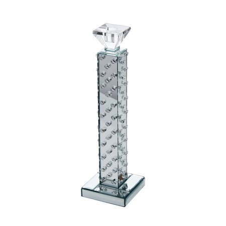 - Sagebrook Home Crystal Mirrored Dot Taper Candle Holder