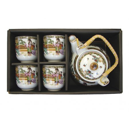 Chinese Oriental Style Tea Sets with Chinese Lady Pictures