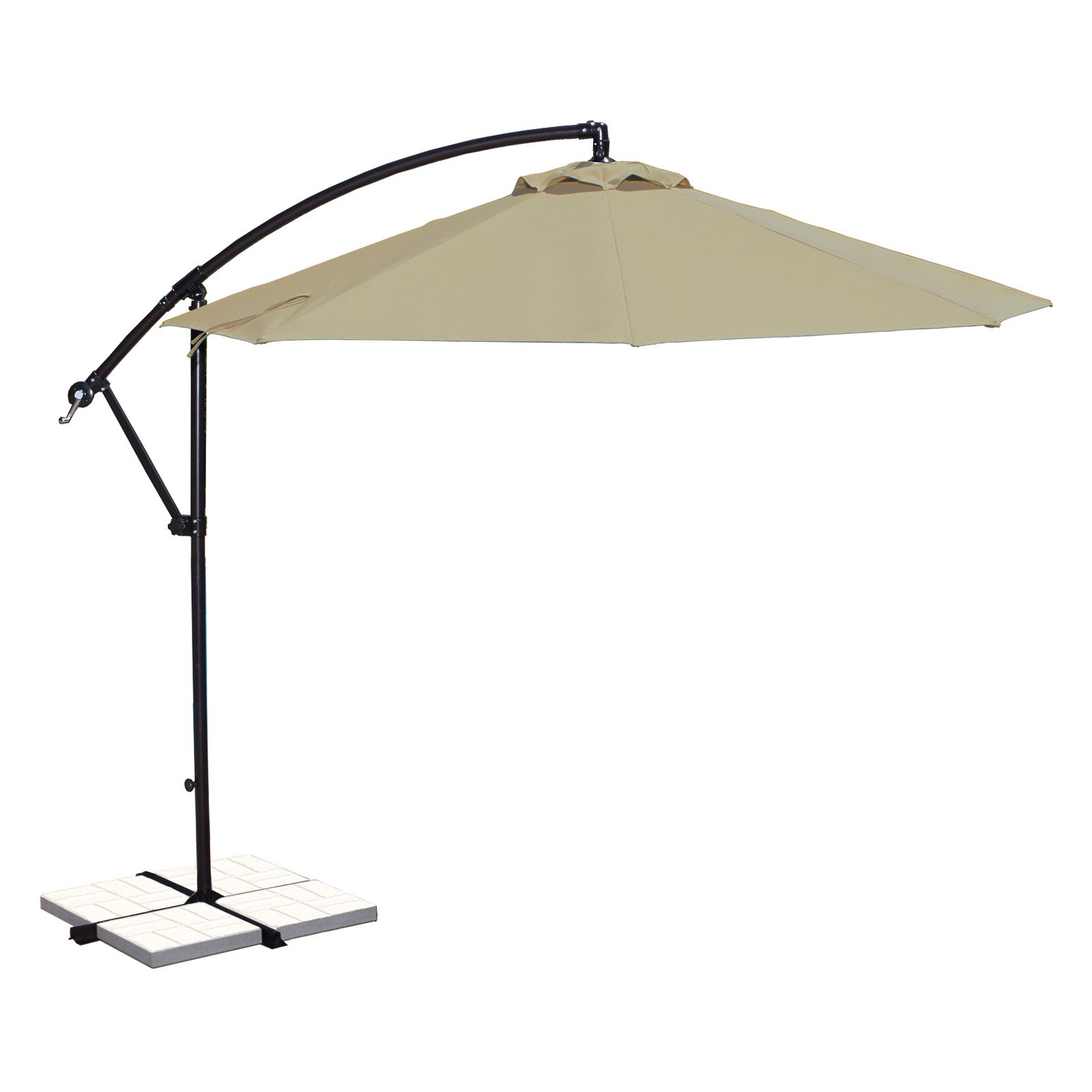 Island Umbrella Santiago 10-ft Octagonal Cantilever Umbrella in Beige Sunbrella Acrylic by Blue Wave Products