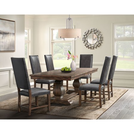 Picket House Furnishings Hayward 7PC Dining Set-Table and Six Tall Back Chairs ()
