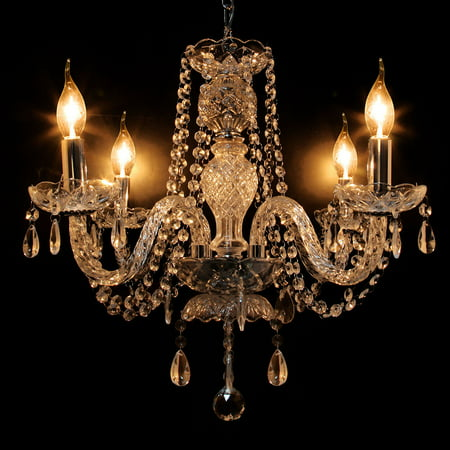 Vintage Crystal Ceiling 4 Arms Pendant Lights Lamp Home Lighting Fixture Traditional European Chandelier Room Decoration - Chandelier Decoration