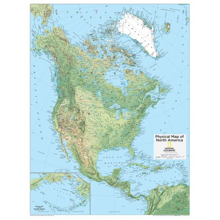2014 North America Physical - National Geographic Atlas of the World, 10th Edition Print Wall Art By National Geographic Maps