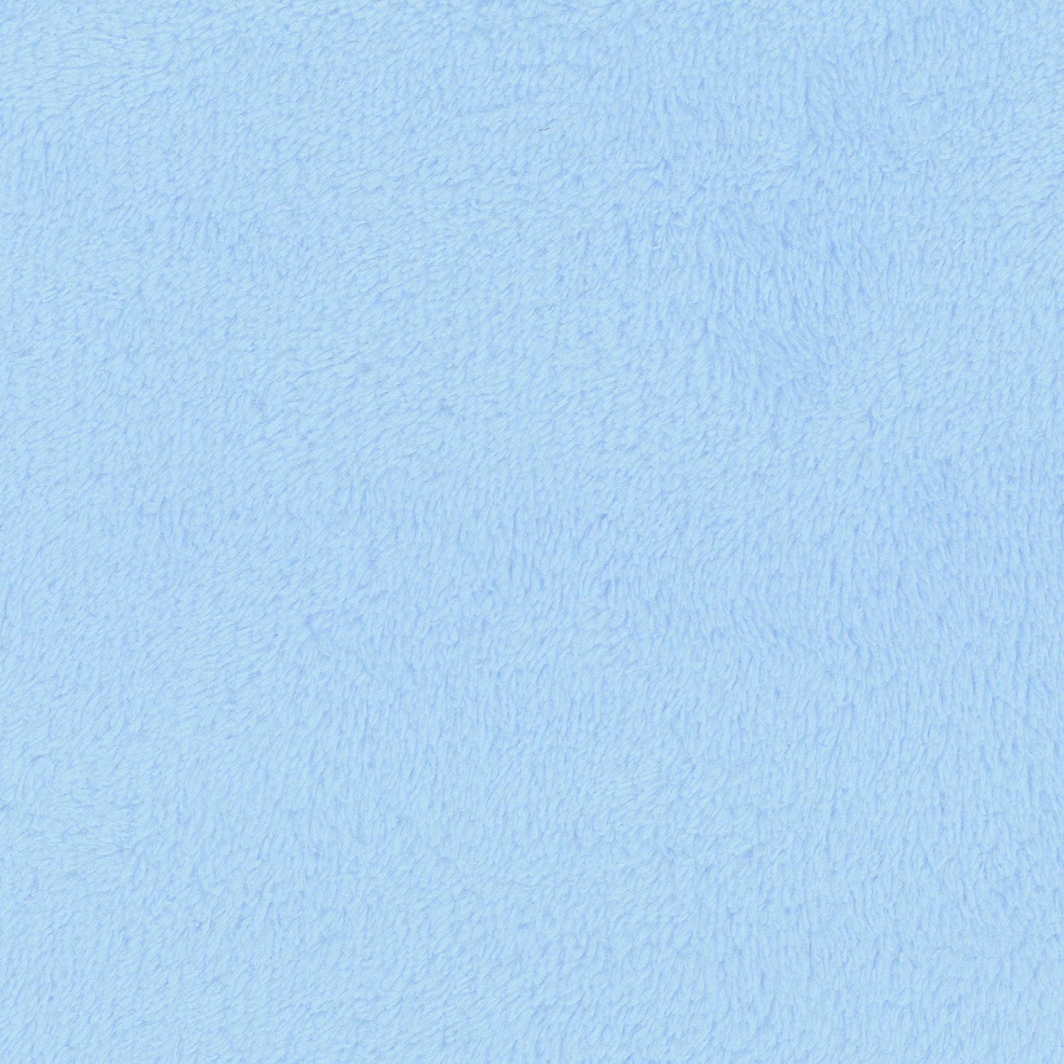 SHASON TEXTILE (2 Yards cut) SOFT CORAL FLEECE SOLID, LT BLUE.