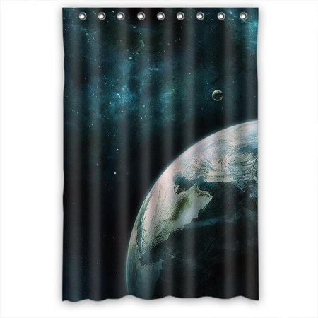Ganma Planet Shower Curtain Polyester Fabric Bathroom 48x72 Inches