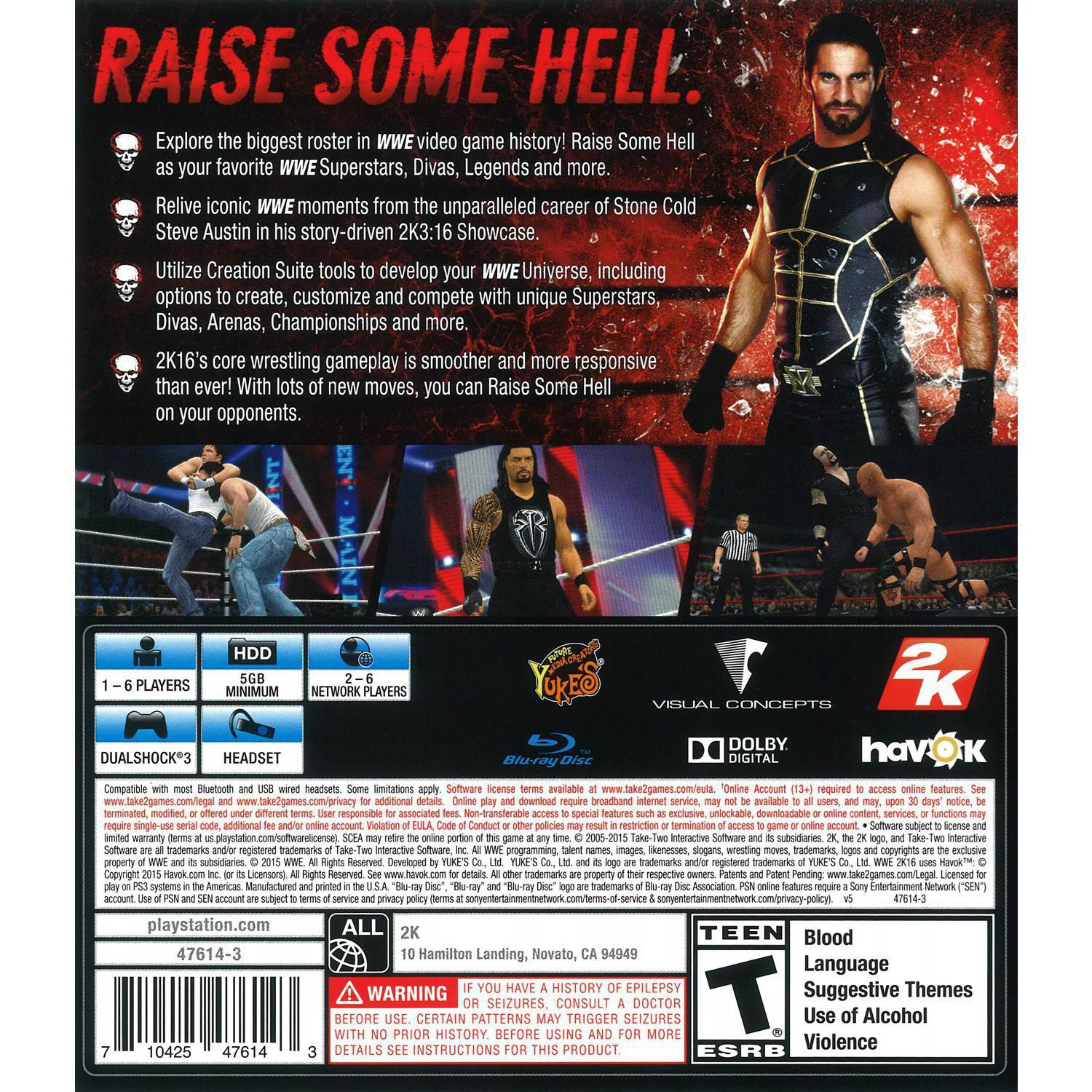 WWE 2K16 (PS3) - Pre-Owned