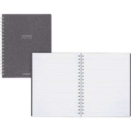 At-A-Glance, MEAYP14445, Collection Gray Twin Wire Notebook, 1 Each