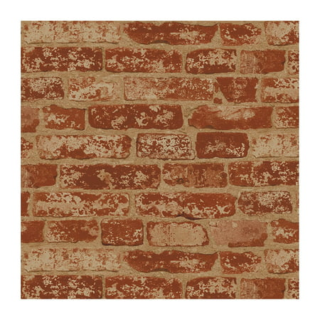 BZ9206 Stuccoed Wallpaper, Rust Red, Barn Red, Ivory, Beige Wine Red, Sure Strip Wallpaper By Wall In A