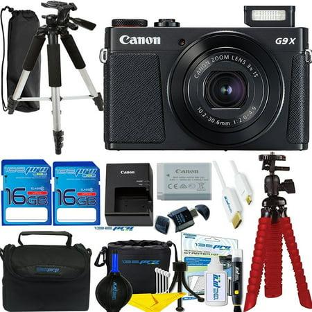 Canon PowerShot G9 X Mark II Digital Camera (Black) - Deal-Expo Accessories Bundle