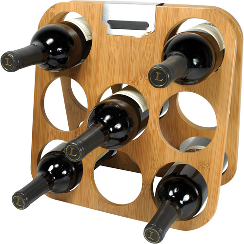 Rabbit Bamboo Wine Rack by Metrokane