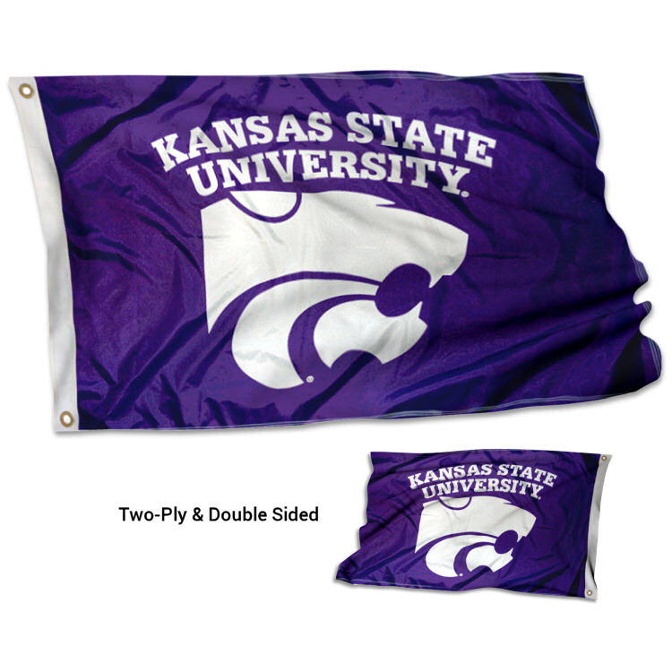 Kansas State Wildcats Double Two Sided Flag