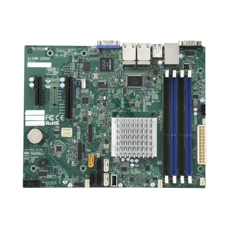 Supermicro A1SAM-2550F Micro ATX Intel Atom C2550 Processor DDR3 1333 MHz Motherboard and CPU Combo (MBD-A1SAM-2550F-O) ()