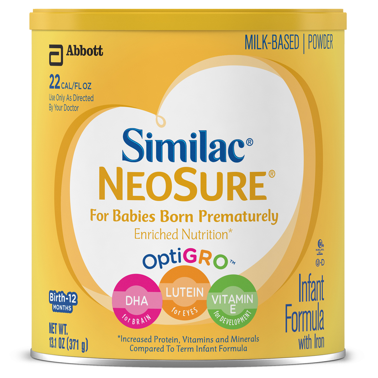 Similac NeoSure Infant Formula with Iron, For Babies Born Prematurely, Powder, 13.1 oz (Pack of 6)