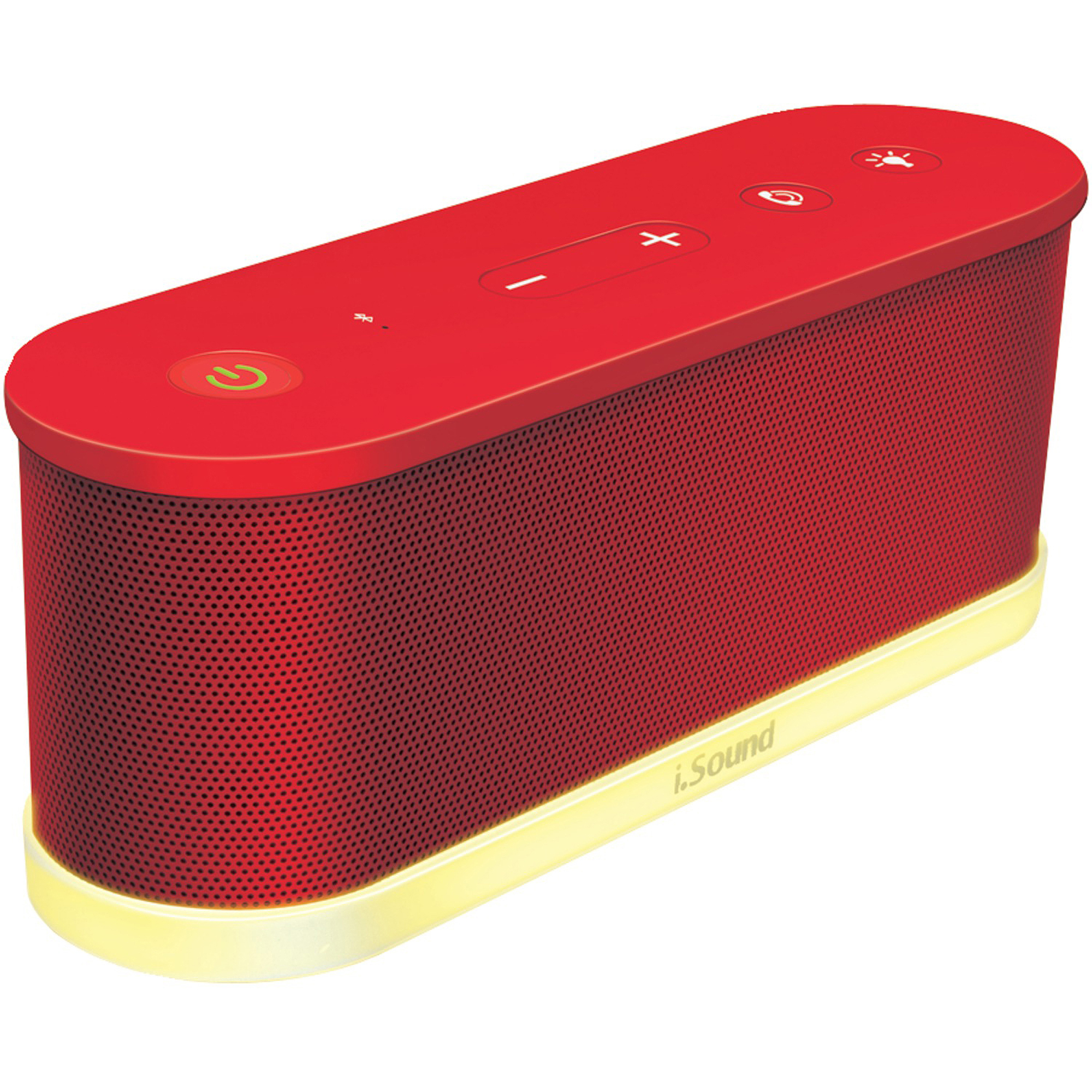 i.Sound Waves Wireless Bluetooth Speaker, Red