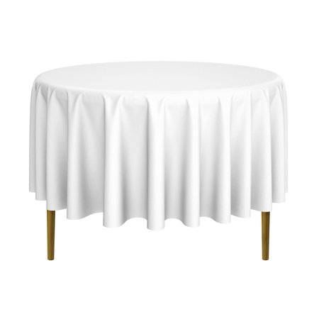 lann's linens - round premium tablecloth for wedding / banquet / restaurant - polyester fabric table cloth (multiple colors & sizes) (Round Linens)