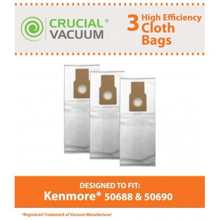 3 Kenmore 50688, 50690 Cloth Bags, Part # 20-5068, -