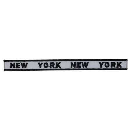 ID 1896 New York Craft Strip Patch NY Travel Badge Embroidered Iron On Applique