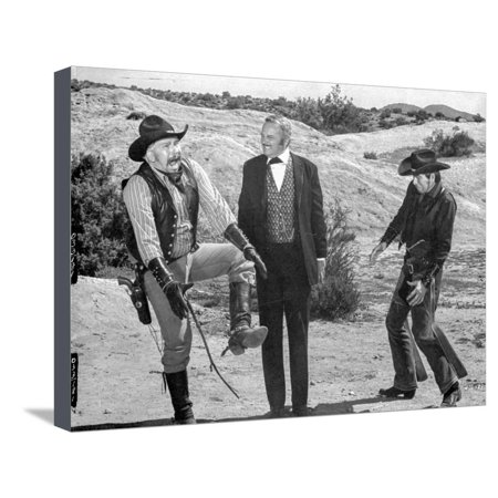 A scene from Blazing Saddles. Stretched Canvas Print Wall Art By Movie Star