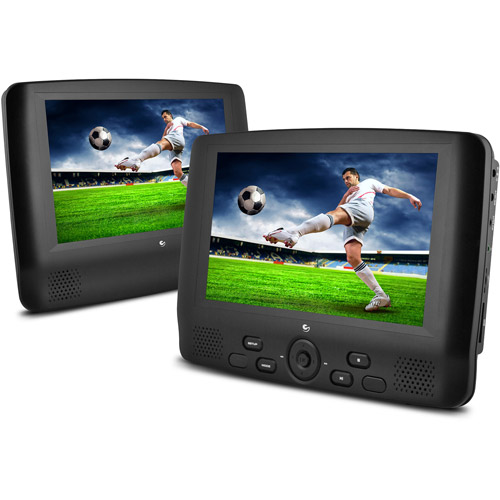 """Ematic 9"""" Dual Screen Portable DVD Player, ED909"""