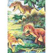 "Mini Color Pencil By Number Kit 5""X7""-Dinosaur Fun"