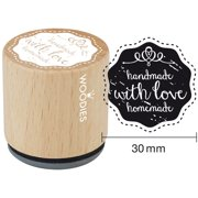 """Woodies Mounted Rubber Stamp 1.35""""-Handmade With Love Homemade"""