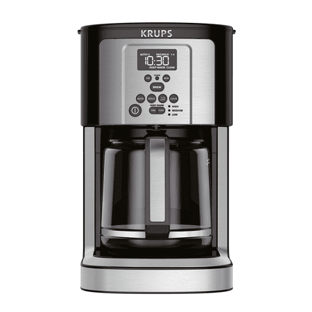 Krups Ec324 14-Cup Thermobrew Programmable Coffee Maker with Thermobrew Technology