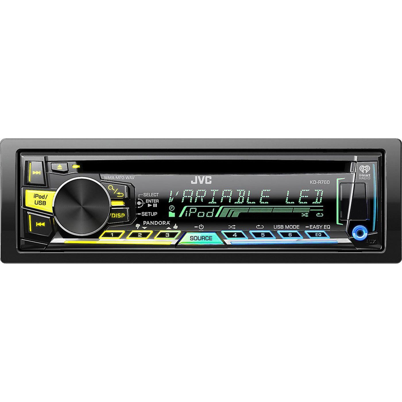 JVC KD-R760 Single DIN In-Dash CD/AM/FM Receiver with Android Music Playback