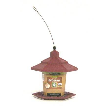 8' Red Bird Lovers Seed - Pennington Wild Bird Feeder, Petite Ecozebo, 2.5 Pound Seed Capacity