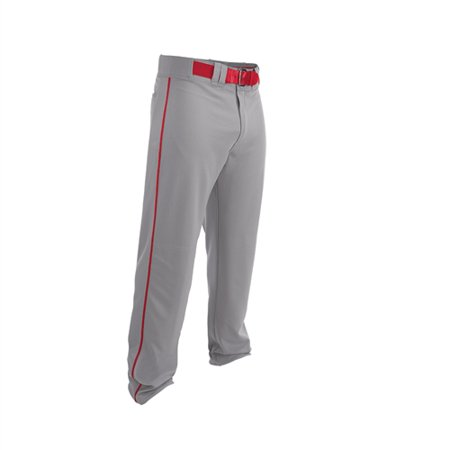 Easton Youth Rival 2 Piped Baseball Pants NEW - Grey with Red Piping - Medium