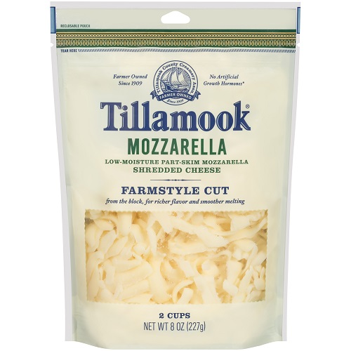 Tillamook Shredded Mozzarella Cheese, 8 oz