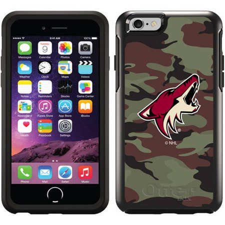 Phoenix Coyotes Traditional Camo Design on OtterBox Symmetry Series Case for Apple iPhone 6 by