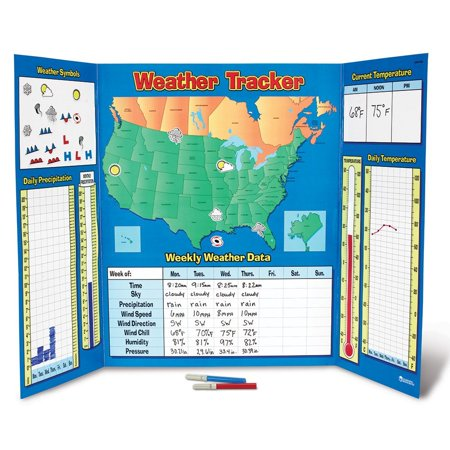 Learning Resources, LRNLER2145, US/Canada Weather Tracker Chart