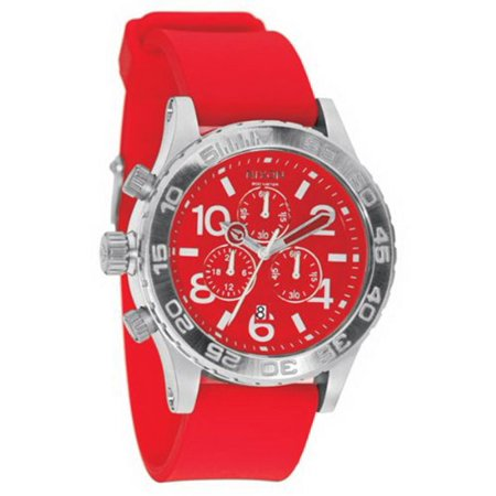 A038200 Men's Lefty Red Dial Rubber Strap Chronograph Dive