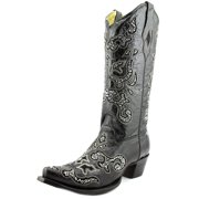Corral A1192 Women  Pointed Toe Leather Black Western Boot