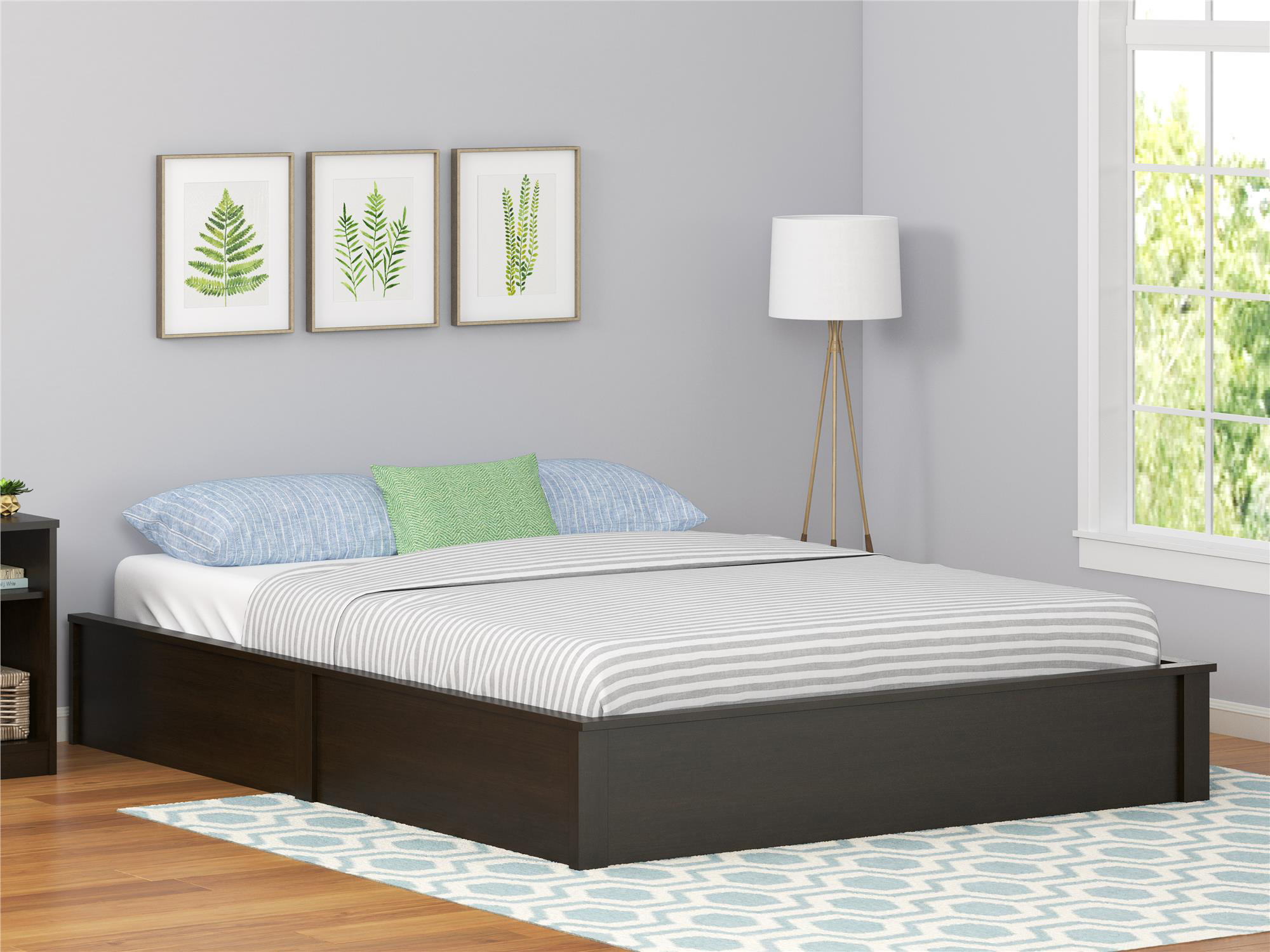 Ameriwood Home Platform Bed Frame, Multiple Colors and Sizes by Ameriwood Home